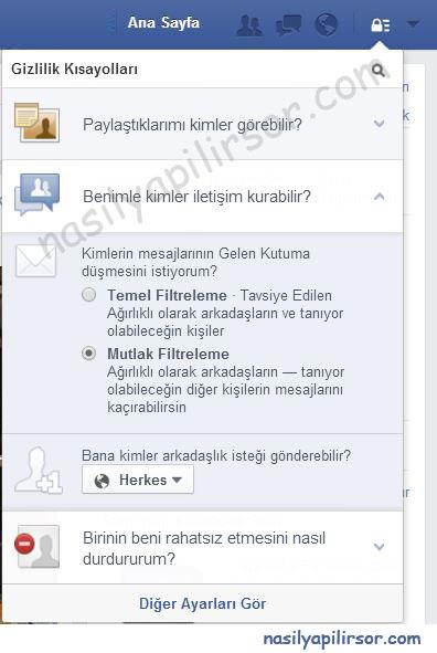 Facebook arkadaş ekleme butonunu kapatma nasıl yapılır ?