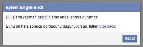 Facebook geçici engellenme durumu nasıl kaldırılır ?